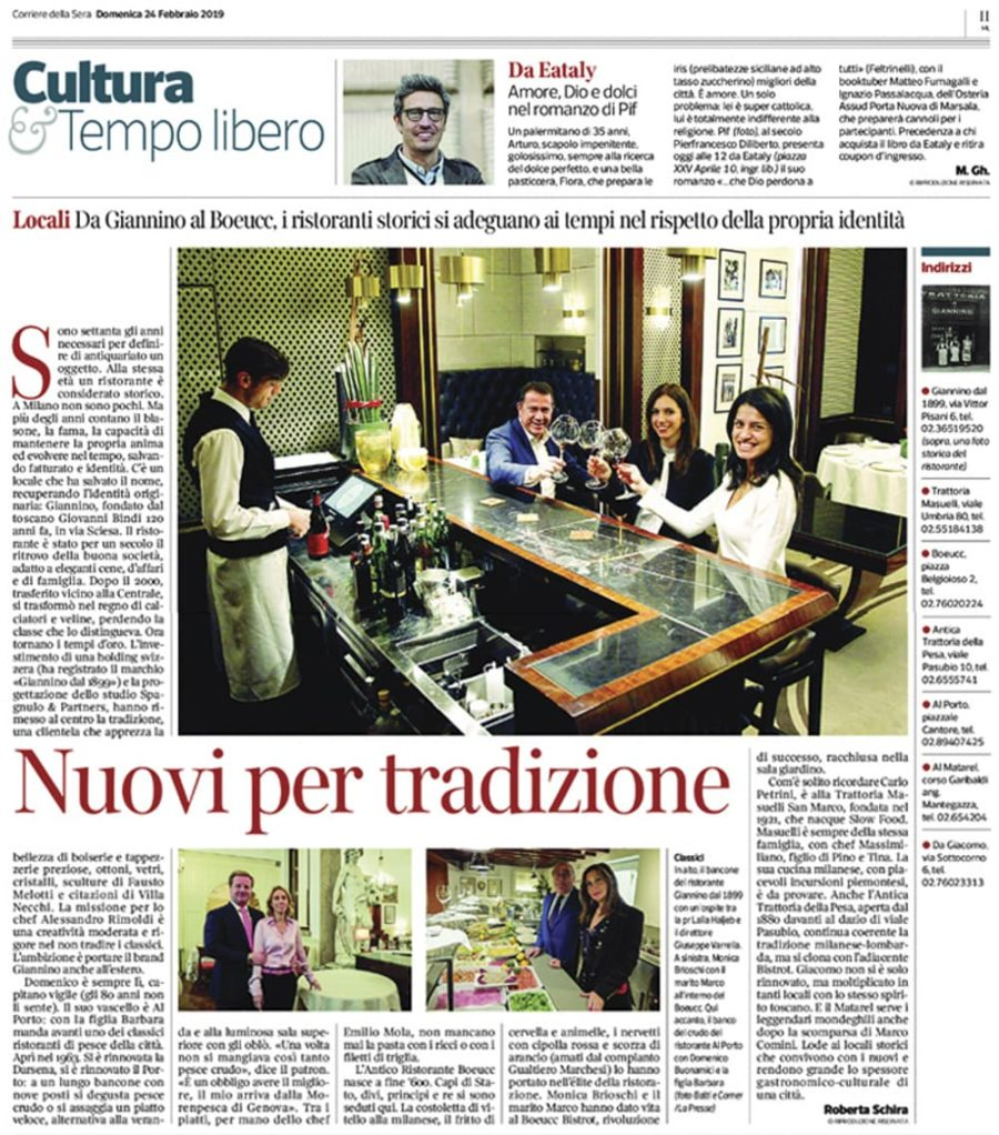 Corriere della Sera • Febbraio 2019